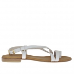 Flip-flop sandal for women in white leather - Available sizes:  32