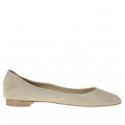 Chaussure ballerina pour femmes en daim sable