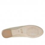Chaussure ballerina pour femmes en daim sable - Pointures disponibles:  42
