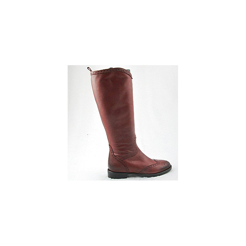 Boot with zip in tan leather - Available sizes:  32