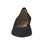 Woman's pump in black fabric and leather heel 3 - Available sizes:  32
