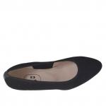 Escarpin pour femmes en tissu et cuir noir talon 3 - Pointures disponibles:  32