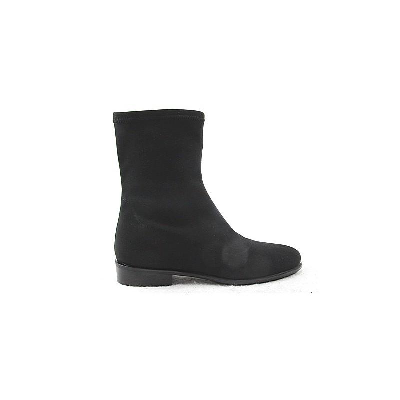 Bottines pour femmes en tissu elastique noir talon 2 - Pointures disponibles:  32