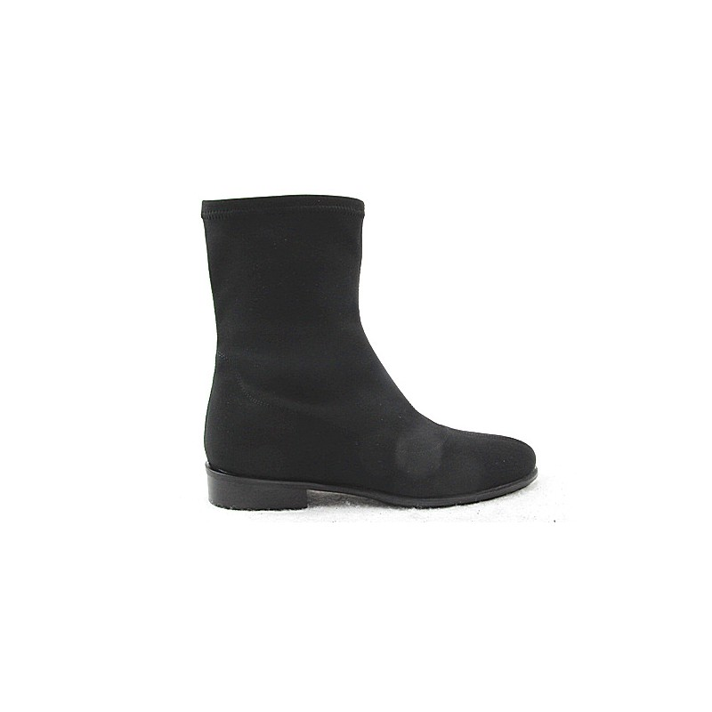 Woman's ankle boot in black elastic fabric heel 2 - Available sizes:  32