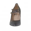 Escarpin pour femmes avec deux courroies en cuir bronze a canon talon 9 - Pointures disponibles:  42