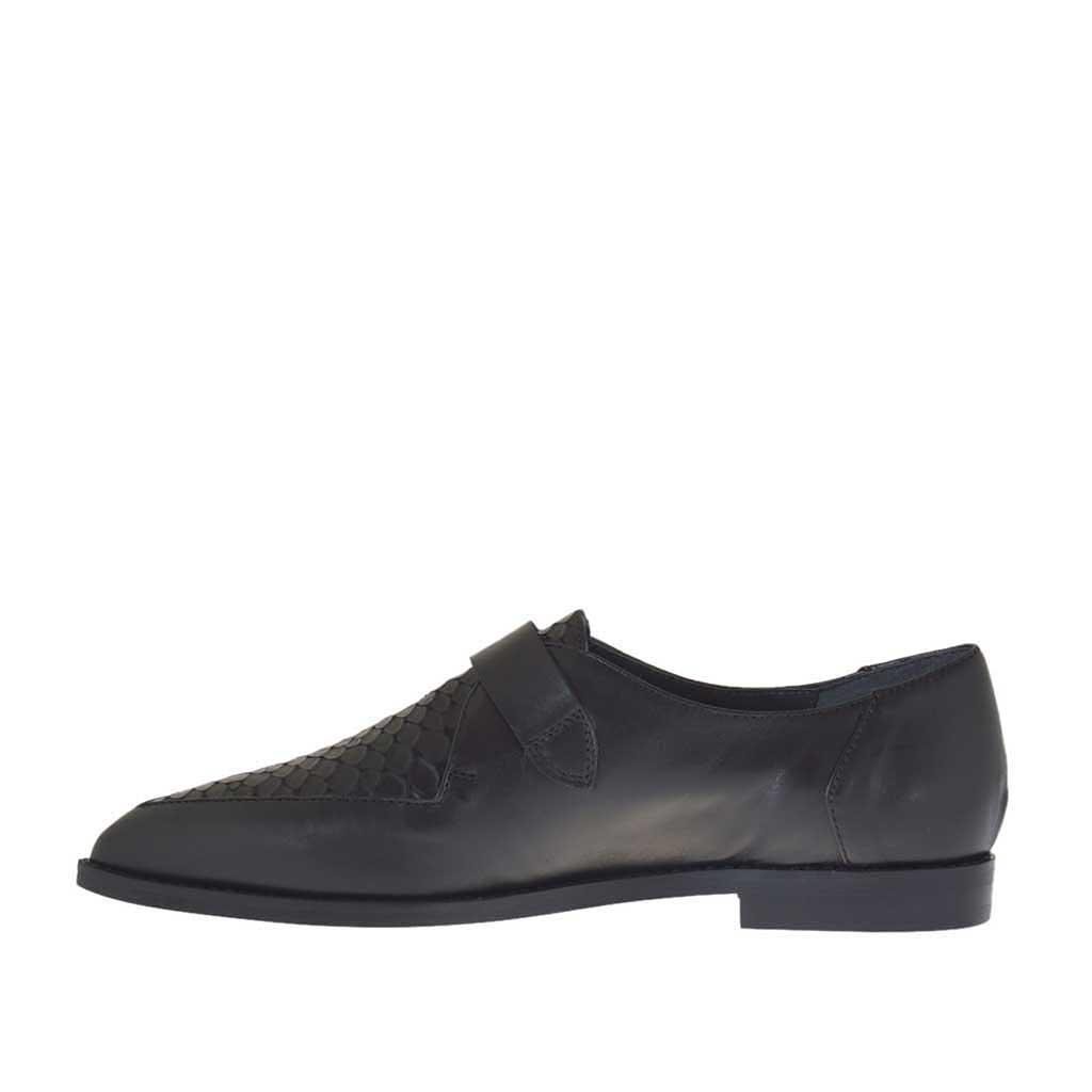 Shoes Buckle Black Woman