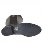Bottes pour femmes en cuir noir avec élastique talon 3 - Pointures disponibles:  33