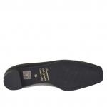 Escarpin pour femmes en cuir noir talon 1.5 - Pointures disponibles:  33, 43
