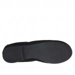 Ballerina chaussure pour femmes en daim noir avec fleur talon 1  - Pointures disponibles:  33