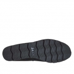 Ballerina chaussure pour femmes en daim et cuir verni noir talon compensé 2 - Pointures disponibles:  32