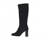 Bottes pour femmes en tissu élastique noir talon 9 - Pointures disponibles:  42