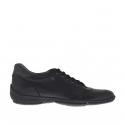 Chaussure sportif à lacets pour hommes en cuir noir