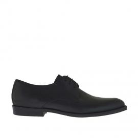 Scarpa elegante e stringata da uomo in pelle nera - Misure disponibili: 36, 50