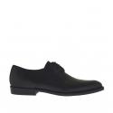 Scarpa elegante e stringata da uomo in pelle nera