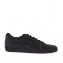 Chaussure à lacets sportif pour hommes en cuir noir