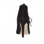 Chaussure à lacets pour femmes avec fermeture éclair en daim noir avec plateforme caché talon 10 - Pointures disponibles:  42