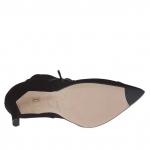 Scarpa stringata da donna in camoscio nero con cerniera e plateau interno tacco 10 - Misure disponibili: 42