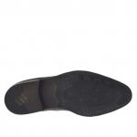 Chaussure fermée pour hommes avec elastiques et bout droit en cuir et cuir brossé noir - Pointures disponibles:  46