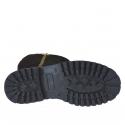 Botte de femmes avec fermeture éclair d'or et demi fermeture éclair interieur en daim noir talon 3 - Pointures disponibles:  33