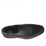 Men's laced elegant shoe in black smooth leather