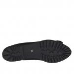 Ballerine pour femmes en daim noir avec arc en cuir verni noir talon 2 - Pointures disponibles:  32, 33