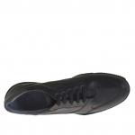 Chaussure sportif à lacets pour hommes en cuir noir  - Pointures disponibles:  47