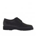 Chaussure derby à lacets élégante pour hommes en cuir noir
