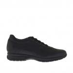 Chaussure sportif pour hommes à lacets  en cuir noir  - Pointures disponibles:  36