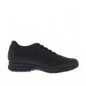 Chaussure sportif pour hommes à lacets  en cuir noir