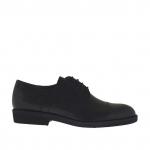 Scarpa elegante da uomo con stringhe in pelle nera - Misure disponibili: 36, 51