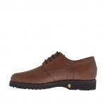 Scarpa elegante e stringata da uomo in pelle marrone - Misure disponibili: 47, 50