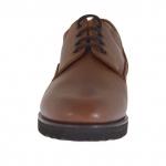 Scarpa elegante e stringata da uomo in pelle marrone - Misure disponibili: 47