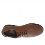 Eleganter Herrenschnürschuh aus braunem Leder - Verfügbare Größen:  47