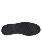 Eleganter Herrenderbyschuh mit Schnüren aus schwarzem Leder - Verfügbare Größen:  36, 47