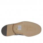 Chaussure pour hommes à lacets et bout Brogue en cuir noir - Pointures disponibles:  51