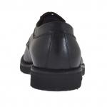 Eleganter Herrenderbyschuh mit Schnürsenkeln und Kappe aus schwarzem Leder - Verfügbare Größen:  36, 50