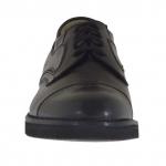 Scarpa da uomo elegante con stringhe in pelle nera - Misure disponibili: 36, 50