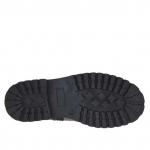 Botines para mujer con cremallera y bandas en piel y gamuza estampada negra tacon 3 - Tallas disponibles:  32