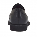 Scarpa da uomo con stringhe in pelle nera - Misure disponibili: 36, 50, 51