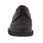 Scarpa derby da uomo con stringhe in pelle nera - Misure disponibili: 36, 51