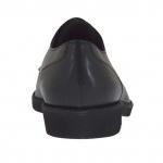 Derbyschnürschuh mit Kappe für Herren aus schwarzem Leder - Verfügbare Größen:  36, 51