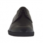 Elegant men's shoes with laces in black leather