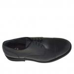 Elégant chaussure derby pour hommes à lacets en cuir noir - Pointures disponibles:  36, 51