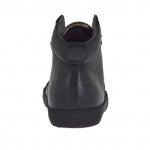Zapato deportivo alto al tobillo con cordones para hombres en piel negra - Tallas disponibles:  36, 37, 46