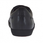 Scarpa sportiva da uomo con stringhe in pelle nera - Misure disponibili: 36, 37, 38, 47