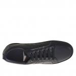 Scarpa sportiva da uomo con stringhe in pelle nera - Misure disponibili: 36, 37, 38, 51