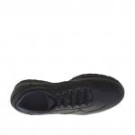 Scarpa da uomo stringata sportiva in pelle nera - Misure disponibili: 36