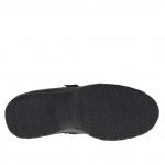 Chaussure sportif pour hommes avec velcro en cuir noir - Pointures disponibles:  36, 37, 38, 46