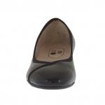 Escarpin pour femmes en cuir verni noir talon 3 - Pointures disponibles:  33