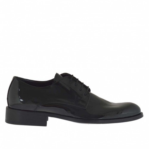 Up shoe in black patent leather - Available sizes:  36, 37, 47, 49, 50, 51